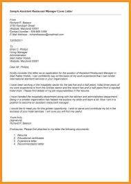 9 10 Cover Letter For Restaurant Manager Wear2014 Com