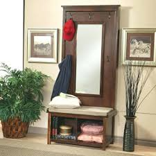 mirror and coat rack shoe bench entryway foyer racks