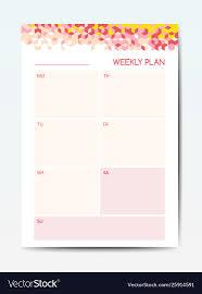 Business Planner Calendar Template Weekly
