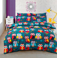 owls duvet cover bedding set cotton rich single double king poly cotton bedding
