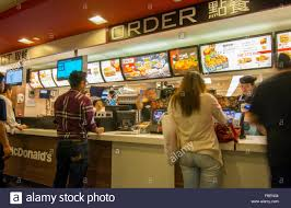 mcdonalds inside counter. Perfect Inside Hong Kong China McDonalds In Chinese Counter Kowloon With Line At  Restaurant  Stock Image To Mcdonalds Inside Counter