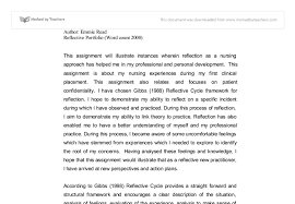 reflection essays example okl mindsprout co reflection essays example