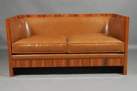 art deco style leather sofa brown art deco era furniture