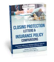 Closing Protection Letters Insurance Policy parisons