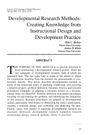 Design And Development Research Pdf Developmental Research Methods Creating Knowledge From