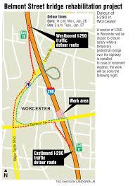 I 290 Closure Detours In Worcester Monday Night News Telegram