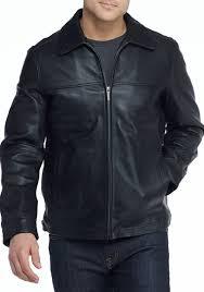 nautica leather er jacket black men young men s clothing jackets coats