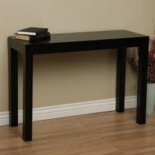 Clay Alder Home Lachlan Glossy Black Sofa Table Free Shipping