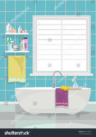Bathroom Vector Flat Cartoon Illustration Stock Vector 447238627 ...