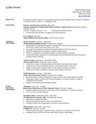 Teaching Resume Middle School Teacher Resume Examples Free Resume Templates 95