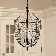Chicken Wire Smokebell Lantern black