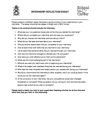 Fillable Online Please Prepare A Reflection Essay That Gives