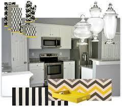 modern contemporary kitchen decor mood board black white yellow .