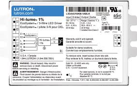 lutron hi lume 1% 3 wire and ecosystem (l3da) driver specification lutron hi lume a series wiring diagram lutron hi lume 1% 3 wire and ecosystem (l3da) driver specification submittal (369325)