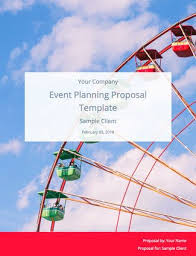 Event Planning Proposal Event Planning Proposal Template And Sample Bidsketch
