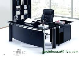 glass desk office furniture. executive glass desk tempered office boss table commercial furniture with modern design .