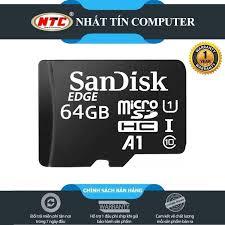 Thẻ nhớ MicroSDXC SanDisk Edge A1 64GB Class 10, Giá tháng 2/2021