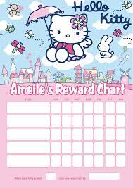 Personalised Hello Kitty Reward Chart Adding Photo Option Available