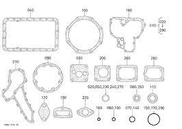parts for kubota l48 kubota 10079204 l48 engine lower gasket kit