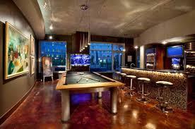 Modern billiard room home billiards Homegram Billiard Room With Bar Ciericorg 20 Mind Blowing Billiards Room Designs
