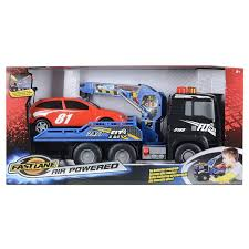 Fast Lane Light And Sound Police Motorcycle Fast Lane Tow Truck Pump Action Car Lift Black Man Lorry Can
