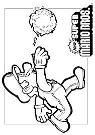 Mario Bros Mario Gooit Een Bal Mario Bros Kleurplaten Kleurplaatcom