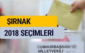 2018 seçim sonuçları Şırnak YSK oy sonucu - Internet Haber