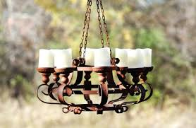 rustic candle chandelier diy rustic candle chandelier