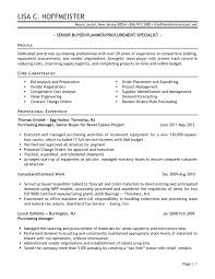 Procurement Buyer Resume Sample Senior Logistic Management Resume
