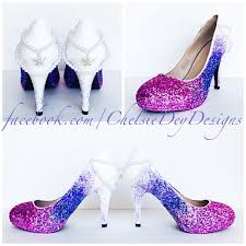 glitter high heels white pink lavender lilac ombre fade pumps Wedding Shoes Glitter Heel glitter high heels white pink lavender lilac ombre fade pumps mermaid starfish pearl heels wedding shoes sparkly heel