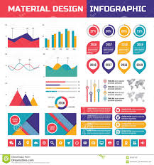 Material Design Stock Images Business Infographic Vector Set In Material Design Style