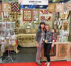 Suzanne and Michelle in the Suzanne's Art House trade show booth ... & Suzanne and Michelle in the Suzanne's Art House trade show booth... International  Quilt Market ... | It's All About the People | Pinterest | Quilt, ... Adamdwight.com