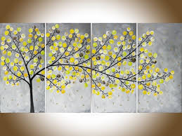yellow grey colorful art contemporary