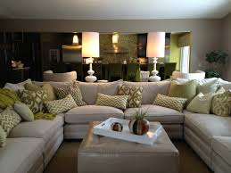U Shaped Couch Living Room Furniture Family Room Sectional White Sofa White Accessories White Lamps