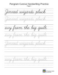 Breathtaking How To Write Cursive Words 14 Pangram 20Cursive ...