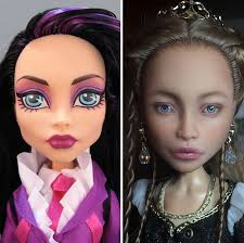 ukrainian artist removes makeup from dolls to repaint them and result is almost too real bored panda
