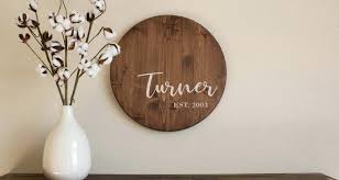 custom painted outdoor wood signs personalized last name sign 3