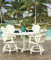 dining tables counter height outdoor dining table set made wood and poly bar stools