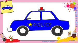 Dessin Voiture De Police Comment Dessiner Une Voiture De Police