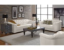 White Leather Living Room Design The Giorgio Collection Value City Furniture Leather Sofa