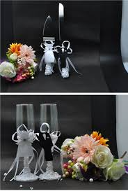 4Pcs/Set, Bride & Groom Wedding Wine Glass Wedding Cake Knife and Server Wedding  Table Decoration Wedding Supplies-in Party DIY Decorations from Home ...