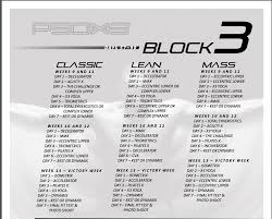 p90x3 month 3 workout schedule