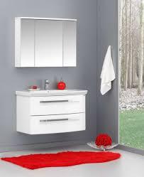 Badmöbel Schrank Unterschrank Waschbecken Spiegelschrank 90cm Weiß
