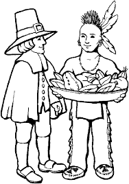 Native American And Pilgrim Coloring Pages Coloringstar