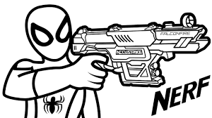 Destiny Coloring Pages Of Nerf Guns Gun Page Free Printable Inside
