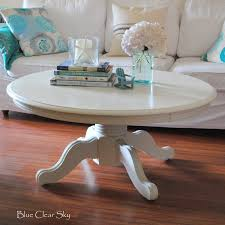 white shabby chic wood round pedestal coffee table designs for