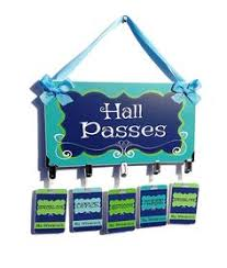 Hall Passes For School 52 Best Hall Passes Images Hall Pass Classroom Organization