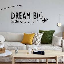 for dream big little one airplane decal wall removable vinyl decor sticker bedroom children decorate diy decal wall decor decal wall murals from langru1002
