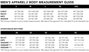 Outdoor Research Jacket Size Chart Clothing Size Guide