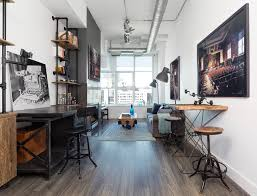 Industrial home office Industrial Chic Photo Loft Industrial Home Office Library Toronto Houzz Photo Loft Industrial Home Office Library Toronto By Rad